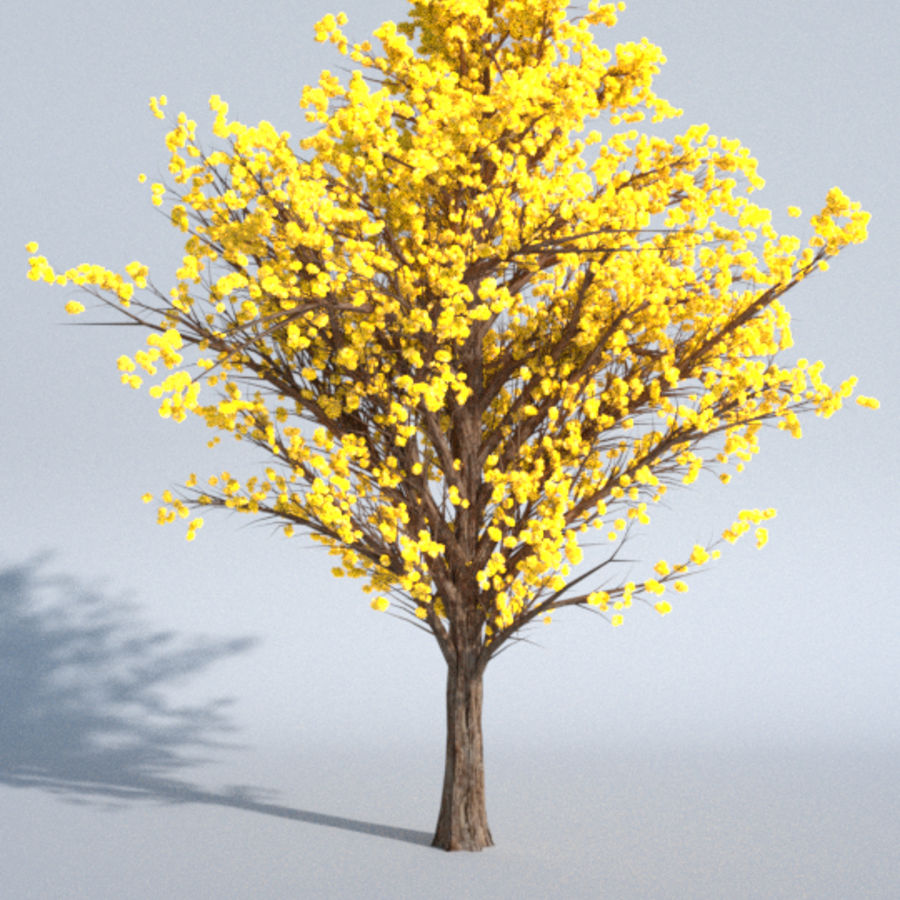 Colorful trees royalty-free 3d model - Preview no. 2
