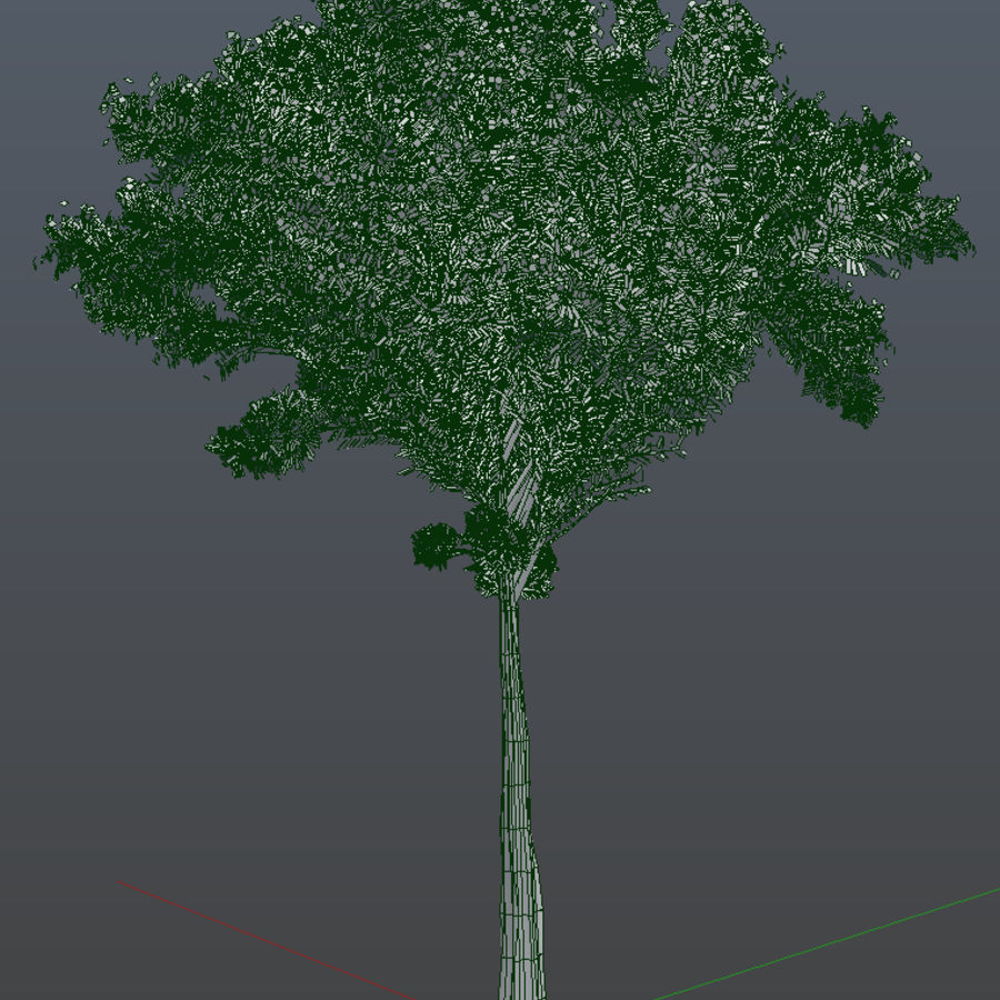 Colorful trees royalty-free 3d model - Preview no. 6