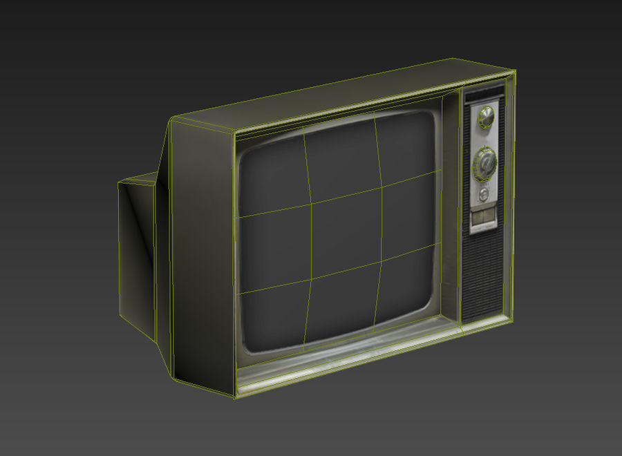 Old Tv Game Ready royalty-free 3d model - Preview no. 6