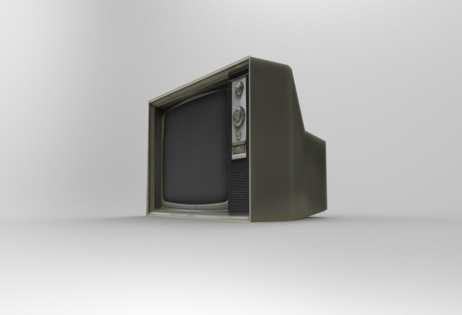 Old Tv Game Ready royalty-free 3d model - Preview no. 2
