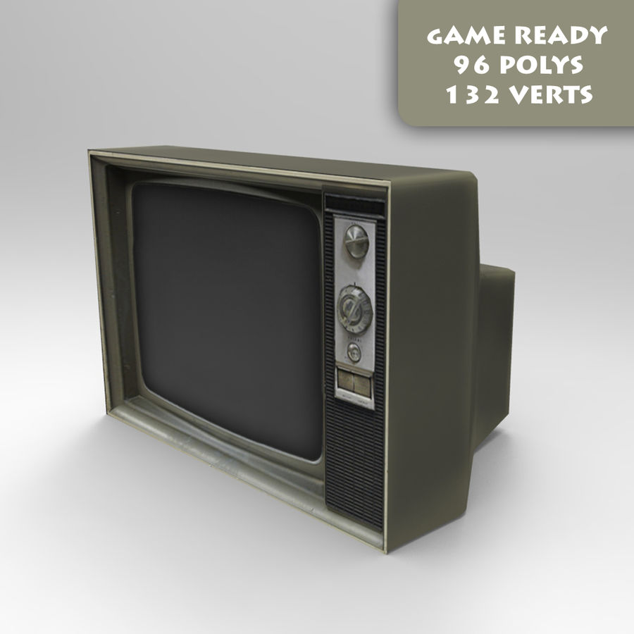Old Tv Game Ready royalty-free 3d model - Preview no. 1