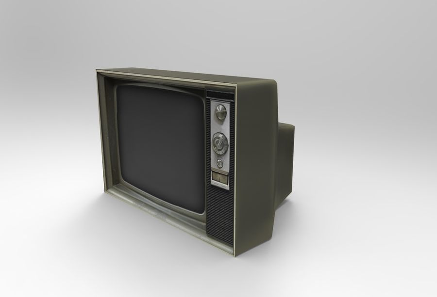 Old Tv Game Ready royalty-free 3d model - Preview no. 4