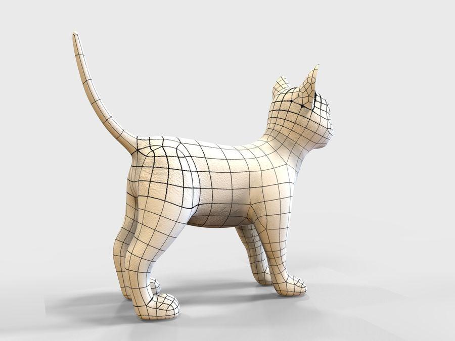 игра кошка готова низкополигональная royalty-free 3d model - Preview no. 11