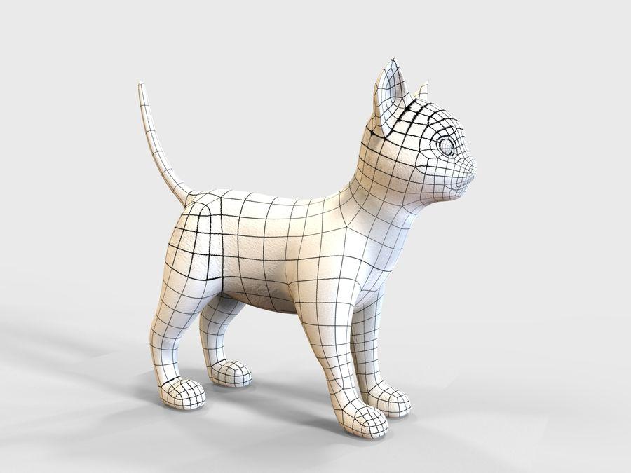 игра кошка готова низкополигональная royalty-free 3d model - Preview no. 14