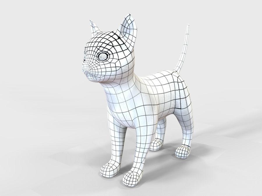 игра кошка готова низкополигональная royalty-free 3d model - Preview no. 8
