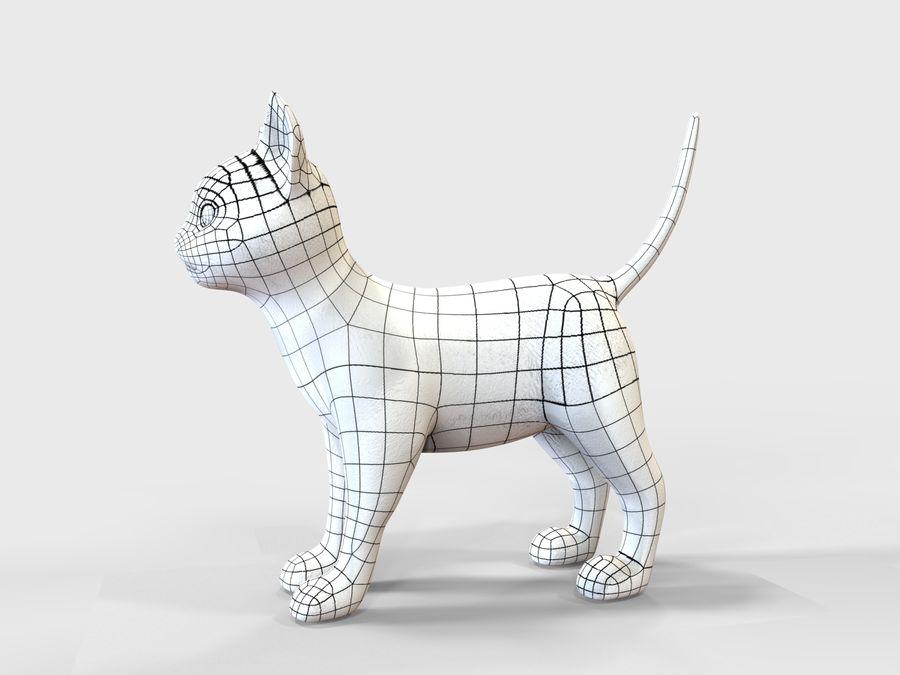 игра кошка готова низкополигональная royalty-free 3d model - Preview no. 9