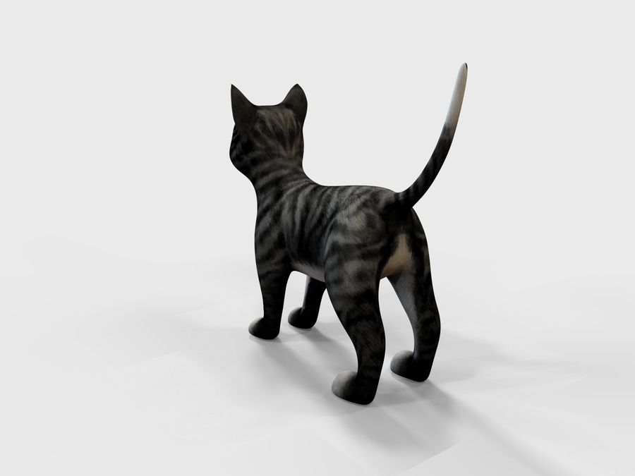 игра кошка готова низкополигональная royalty-free 3d model - Preview no. 5