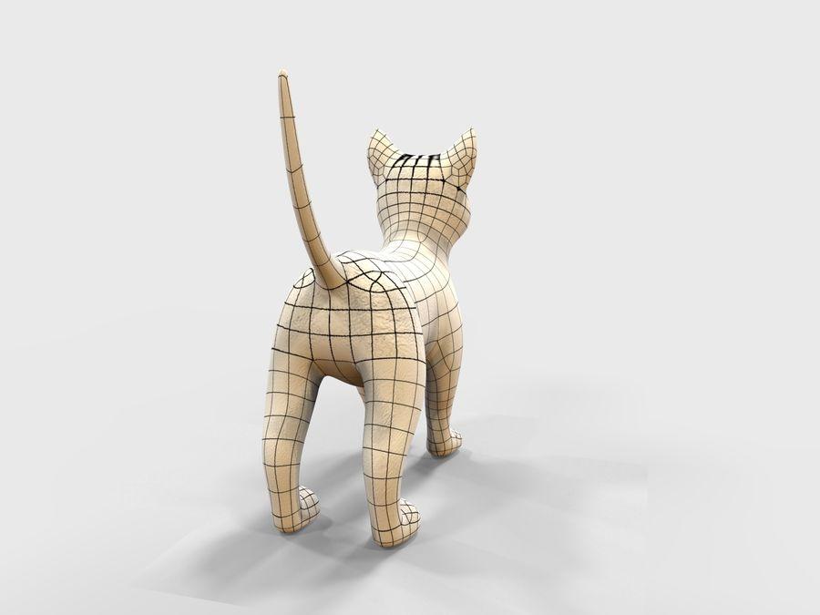 игра кошка готова низкополигональная royalty-free 3d model - Preview no. 15