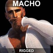 Macho (Rigged) modelo 3d