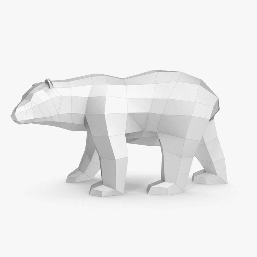 Papercraft dell'orso polare royalty-free 3d model - Preview no. 1
