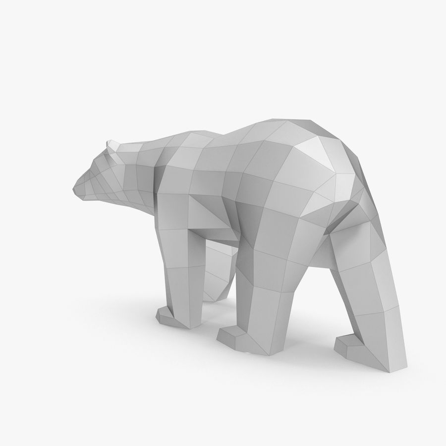 Papercraft dell'orso polare royalty-free 3d model - Preview no. 4
