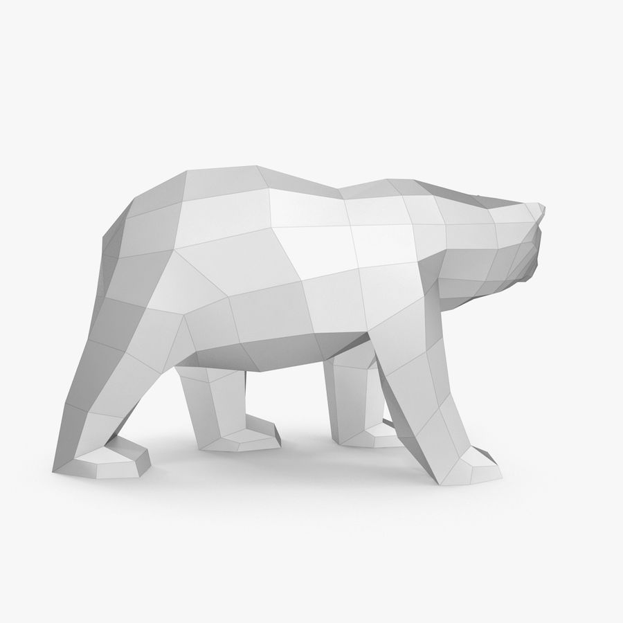 Papercraft dell'orso polare royalty-free 3d model - Preview no. 3