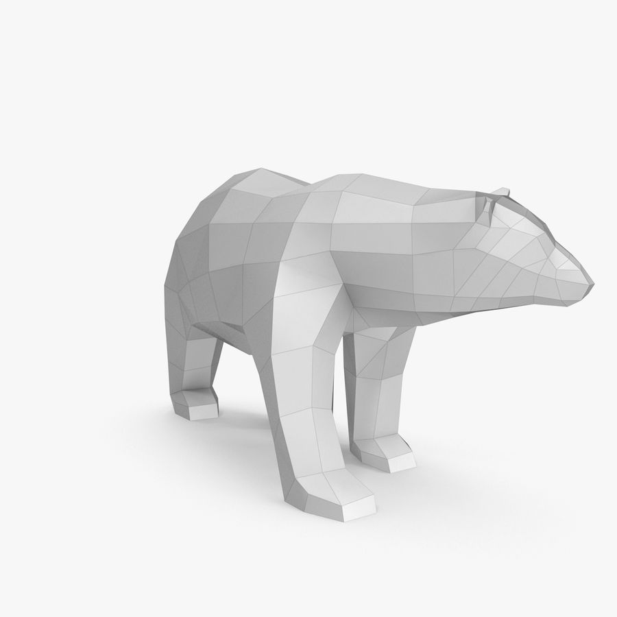 Papercraft dell'orso polare royalty-free 3d model - Preview no. 2