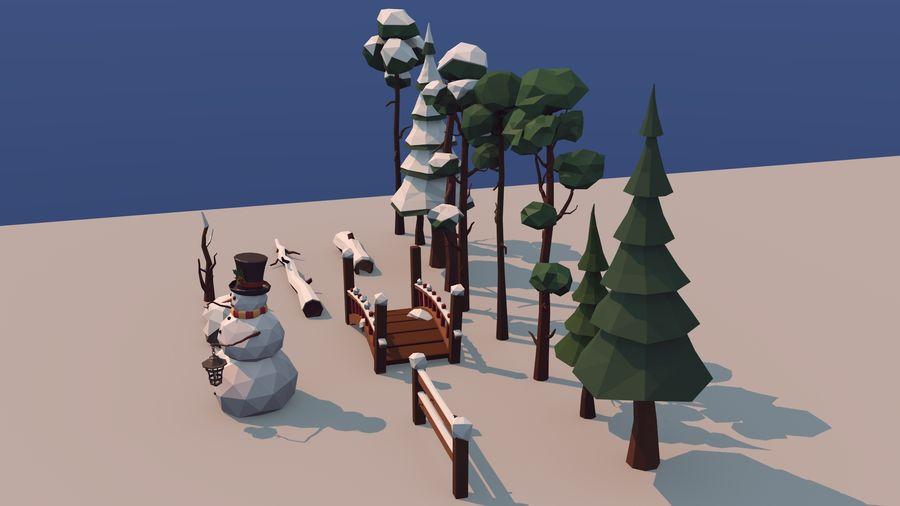 alberi d'inverno royalty-free 3d model - Preview no. 6