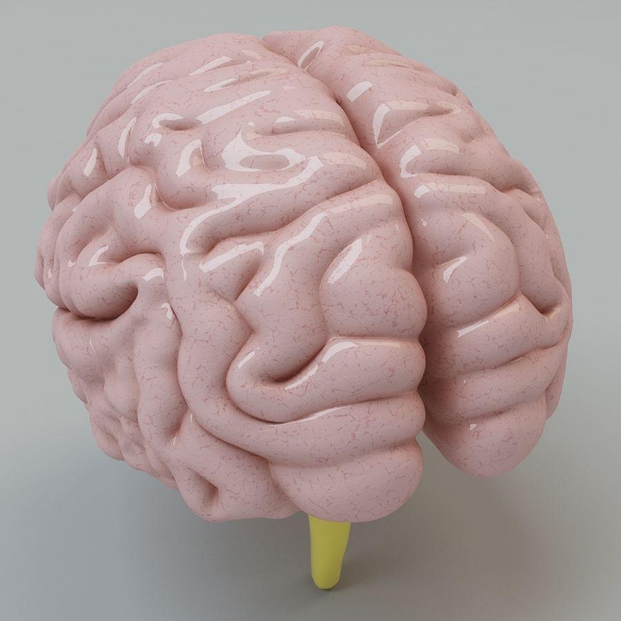 Человеческий мозг royalty-free 3d model - Preview no. 4