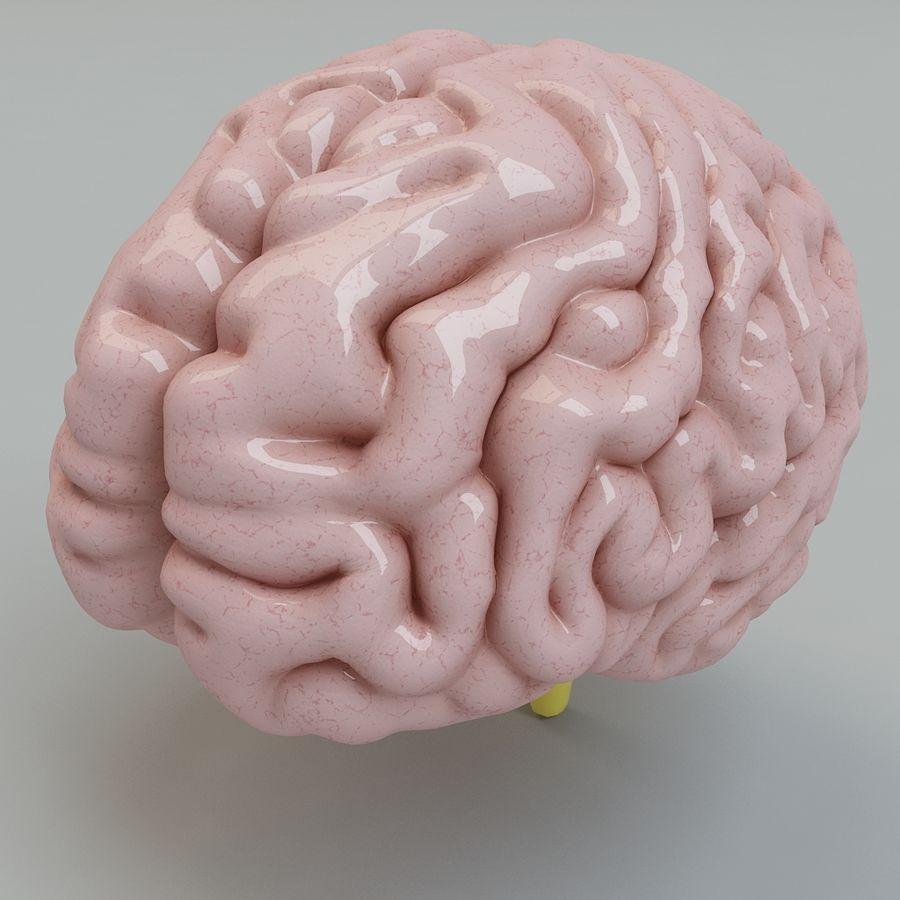 Человеческий мозг royalty-free 3d model - Preview no. 2