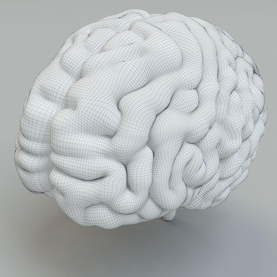 Человеческий мозг royalty-free 3d model - Preview no. 6