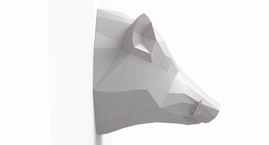 Tête de sanglier en papier royalty-free 3d model - Preview no. 3