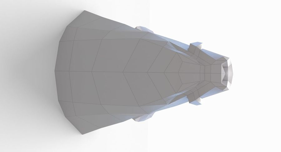Eberkopf Papercraft royalty-free 3d model - Preview no. 6