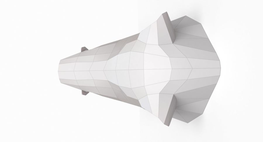 Eberkopf Papercraft royalty-free 3d model - Preview no. 5