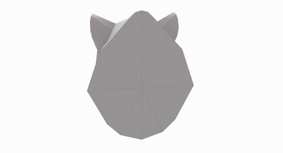 Boar Head Papercraft royalty-free 3d model - Preview no. 4