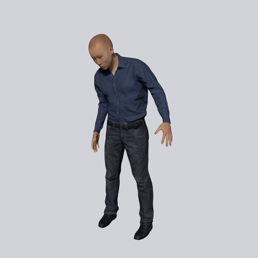 Young Businessman royalty-free 3d model - Preview no. 7