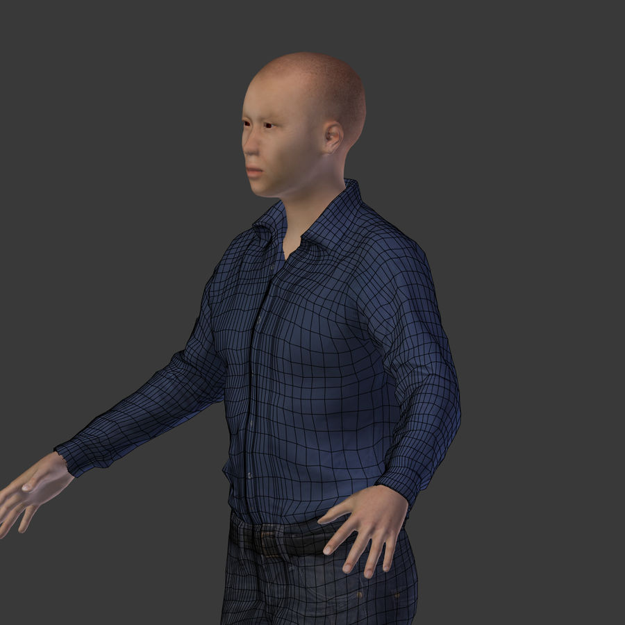 Young Businessman royalty-free 3d model - Preview no. 13