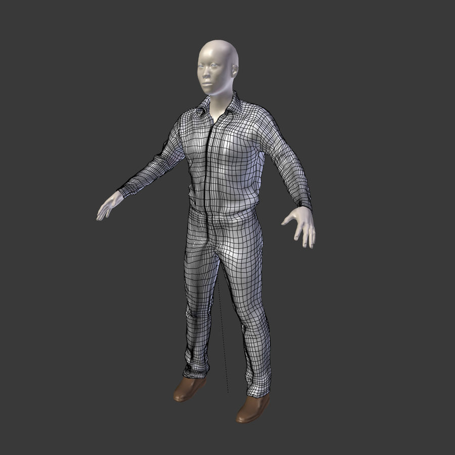 Young Businessman royalty-free 3d model - Preview no. 10
