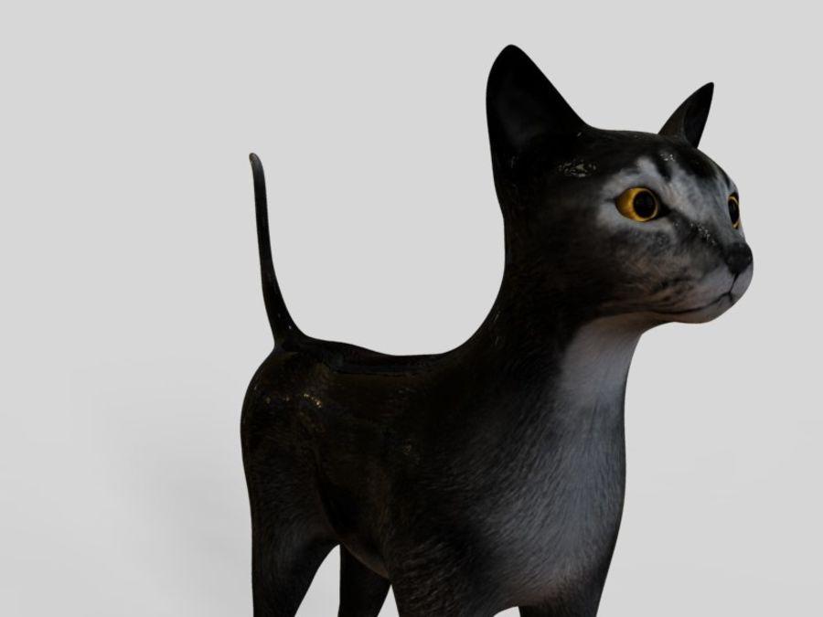 猫模型 royalty-free 3d model - Preview no. 3