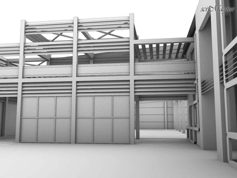 Промышленный завод royalty-free 3d model - Preview no. 5