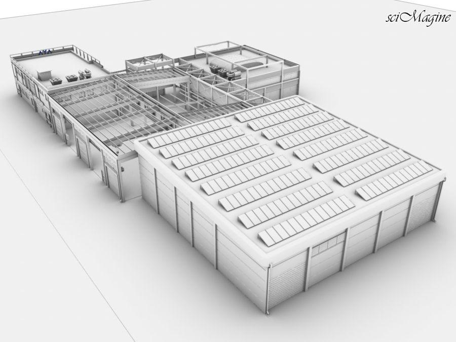Промышленный завод royalty-free 3d model - Preview no. 2