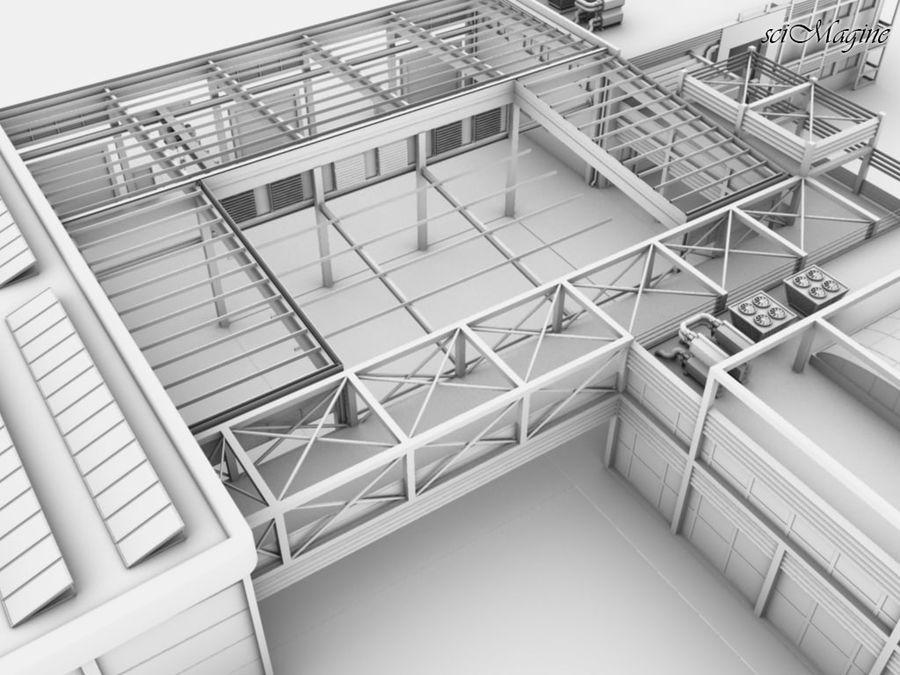 Промышленный завод royalty-free 3d model - Preview no. 6