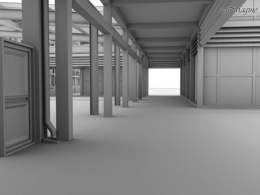 Промышленный завод royalty-free 3d model - Preview no. 3