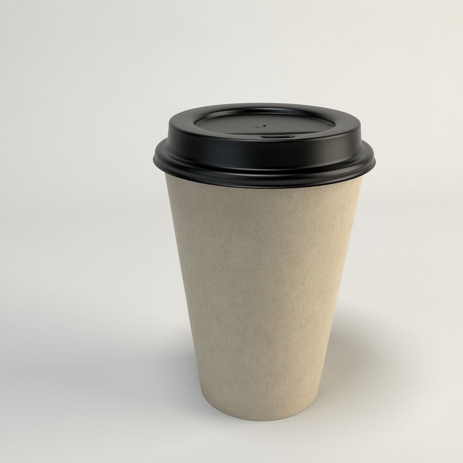 Kaffekopp Tomma Takeout royalty-free 3d model - Preview no. 9