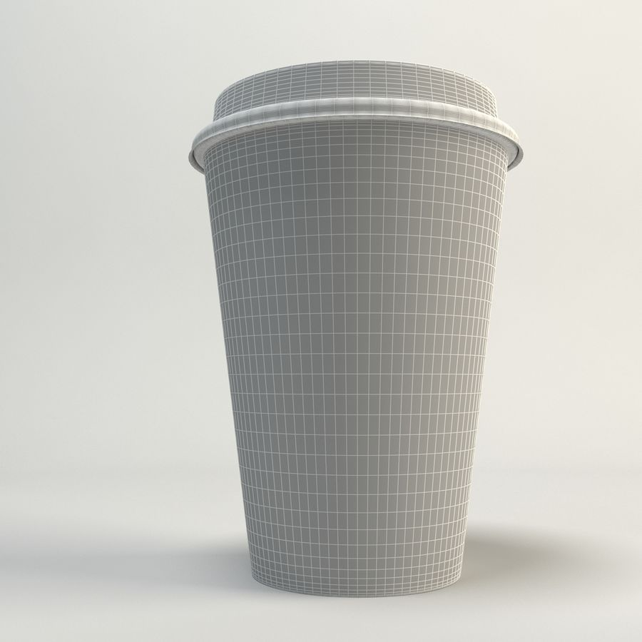 Kaffekopp Tomma Takeout royalty-free 3d model - Preview no. 12
