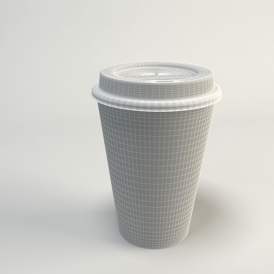 Kaffekopp Tomma Takeout royalty-free 3d model - Preview no. 10