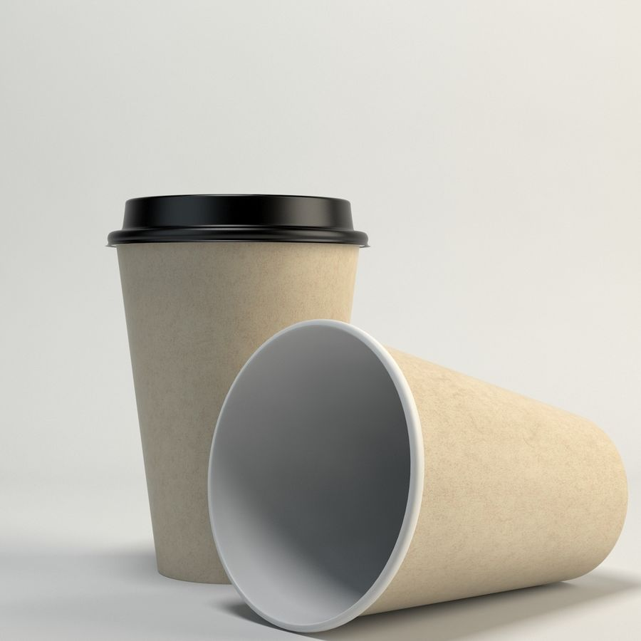 Kaffekopp Tomma Takeout royalty-free 3d model - Preview no. 3