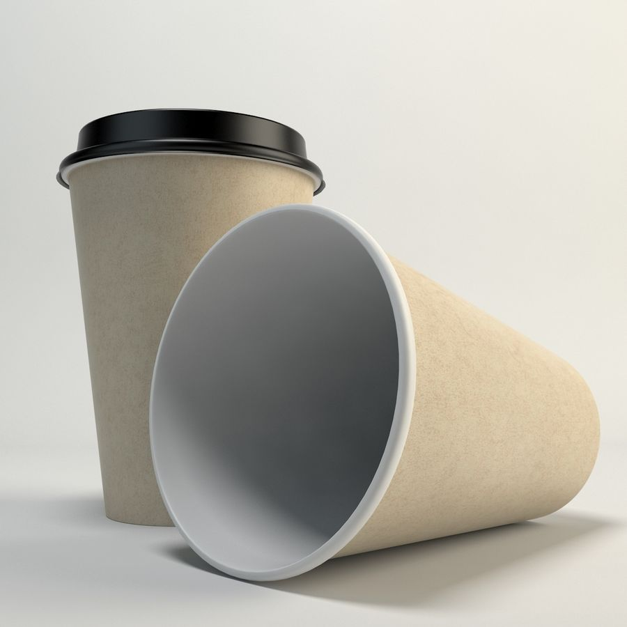 Kaffekopp Tomma Takeout royalty-free 3d model - Preview no. 5