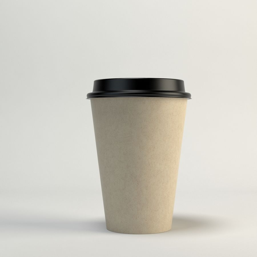 Kaffekopp Tomma Takeout royalty-free 3d model - Preview no. 7