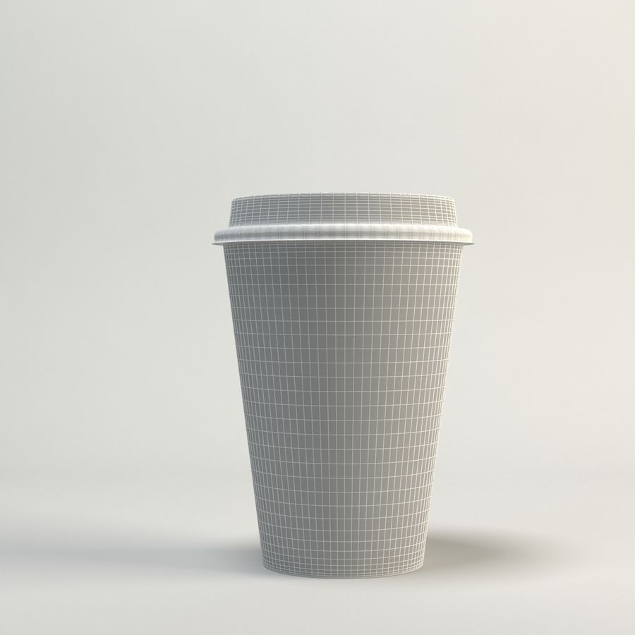 Kaffekopp Tomma Takeout royalty-free 3d model - Preview no. 8