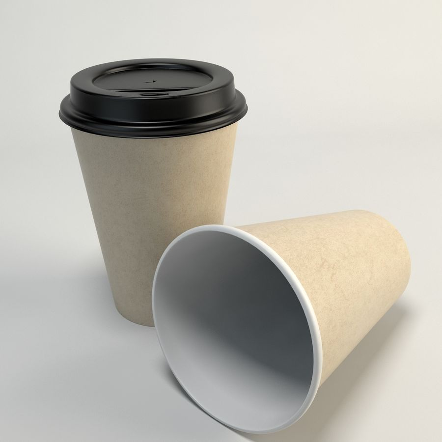 Kaffekopp Tomma Takeout royalty-free 3d model - Preview no. 1