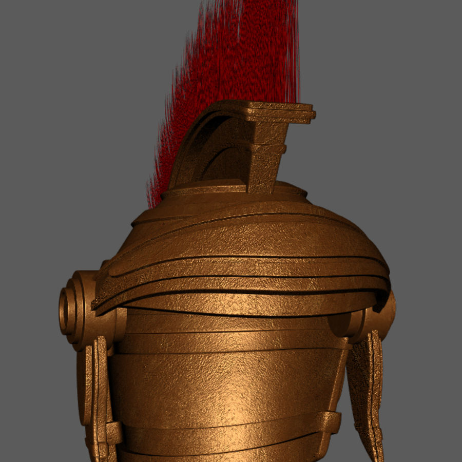 Casque Romain Centurion royalty-free 3d model - Preview no. 5