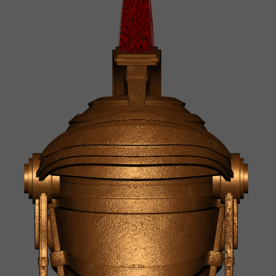 Casque Romain Centurion royalty-free 3d model - Preview no. 3