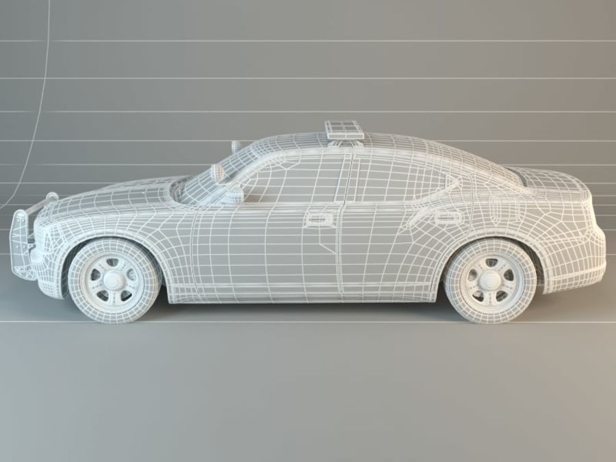 Police Super Car royalty-free 3d model - Preview no. 7