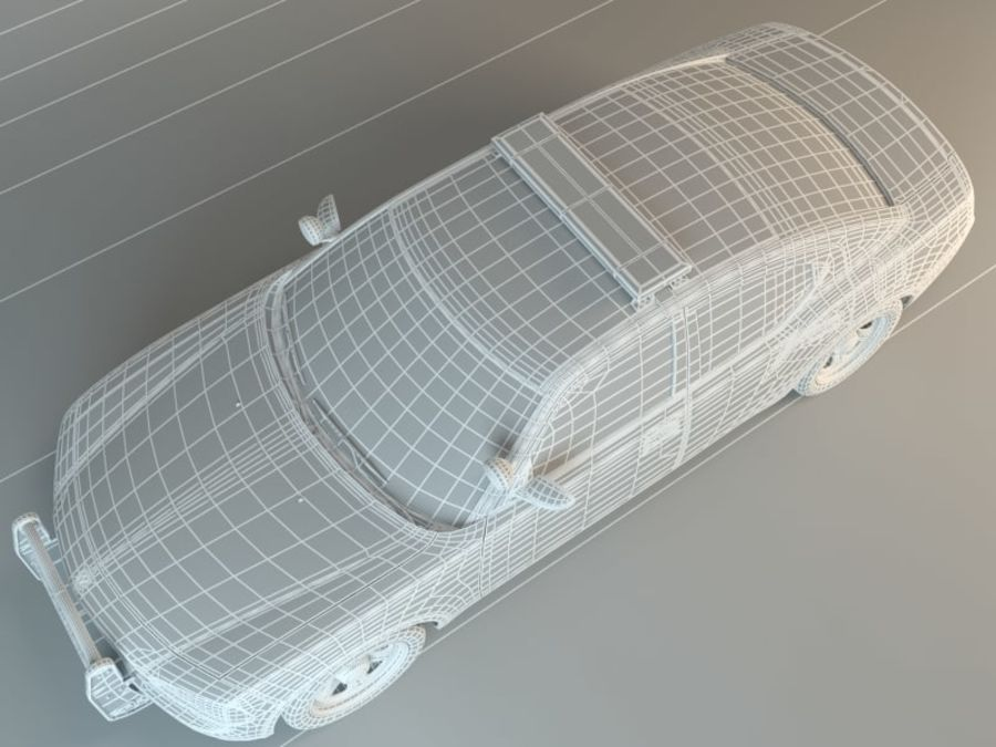 Police Super Car royalty-free 3d model - Preview no. 6