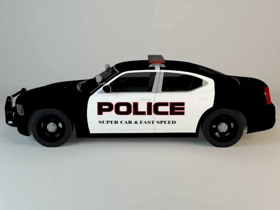 Police Super Car royalty-free 3d model - Preview no. 5