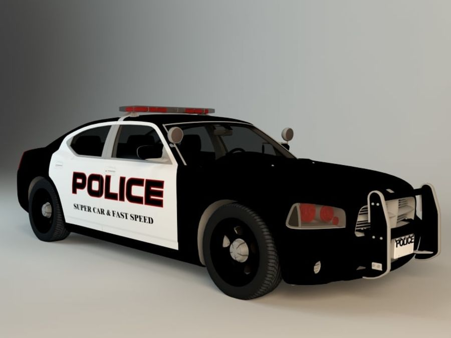 Police Super Car royalty-free 3d model - Preview no. 1