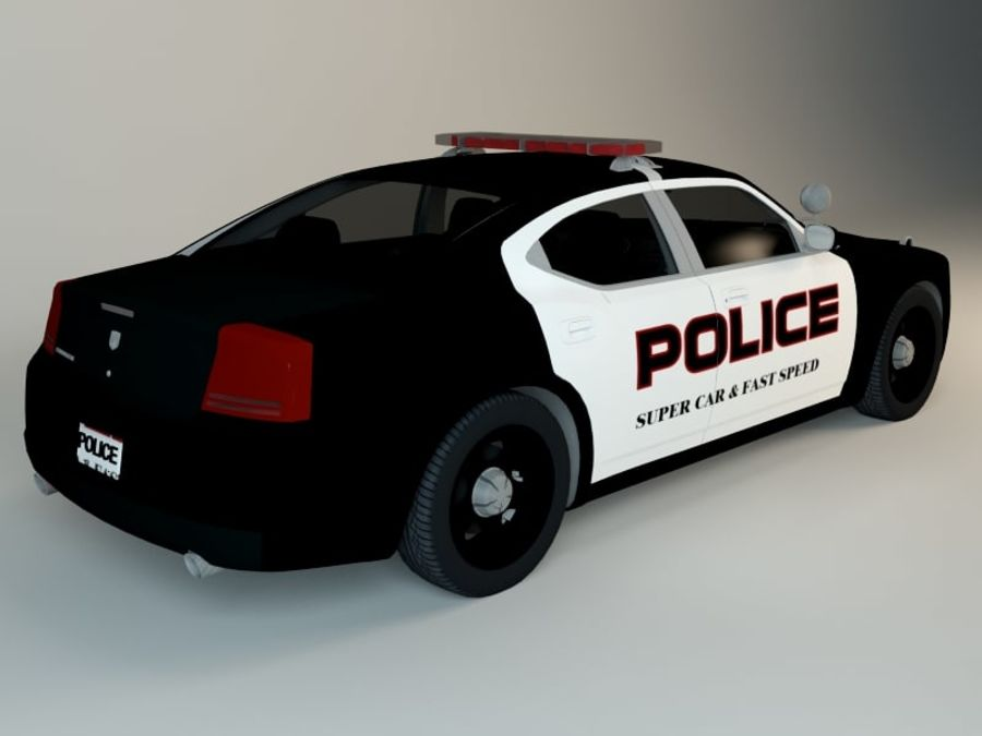 Police Super Car royalty-free 3d model - Preview no. 3