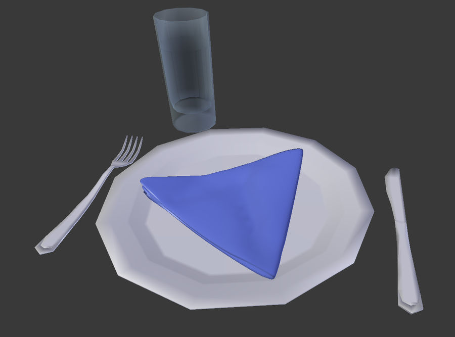 Table serving royalty-free 3d model - Preview no. 5