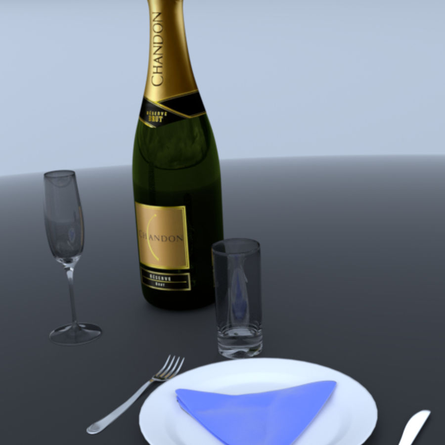 Table serving royalty-free 3d model - Preview no. 1